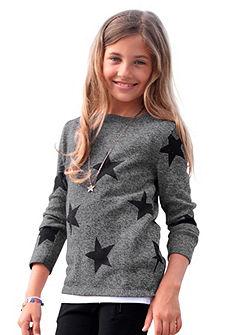 CFL pulóver csillag nyomással, lányoknak