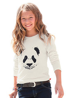 CFL Tričko s dlouhým rukávem s předním potiskem, pro dívky
