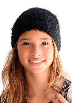 Plyšová čepice, pro dívky