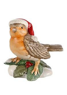 Sběratelská figurka značky Goebel, »cvrlikající vánoční posel«