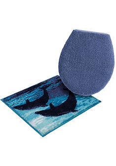 Fürdőszobaszőnyeg, fali WC szett, Grund, »Delfin«, magasság 20 mm, csúszásgátló hátoldal