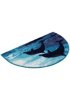 Fürdőszobaszőnyeg, félkör, Grund, »Delfin«, magasság 20 mm, csúszásgátló hátoldal