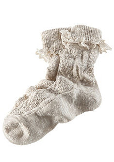 Népviseleti  női zokni finom csipkével