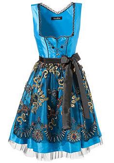 Mondkini Německé krojové šaty krátké s vyšívanou zástěrkou.