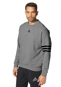 adidas Performance ESSENTIALS LINEAR 3S CREW hosszú ujjú póló