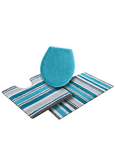 Fürdőszobaszönyeg, álló Wc szett, Ecorepublic Home, »Pansy«, bio pamut, mindkét oldala használható (3 részes)