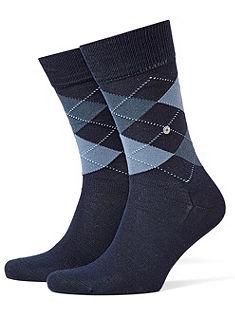 Finom tapintású férfi zokni, Burlington »Manchester«, puha tartós minőség, 5 színkombinációban