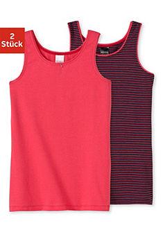 Schiesser trikó lányoknak (2 db), nyaknál és karöltőnél csipkével díszítve