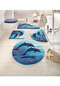 Fürdőszobaszőnyeg, Grund, »Delfin«, magasság 20 mm, csúszásgátló hátoldal