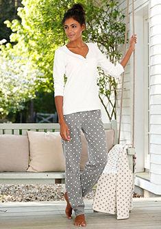 Kiváló minőségű pizsama, Rebelle, elasztikus streccs minőség pöttyös mintával