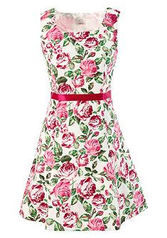 Krojové šaty s potlačou ruží