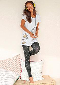 Varázslatos pizsama, NICI,pöttyös legginggel, laza kereknyakú pólós felső elején nyomásmintával