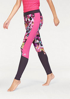 adidas Performance TECHFIT LONG TIGHT FLORAL PRINT Športové legíny