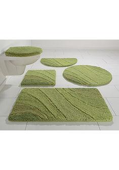 Fürdőszobaszőnyeg, szett fali WC-hez, my home, »Josie« (3 részes), mikroszálas, vastagság 20 mm, csúszásgátló hátoldallal