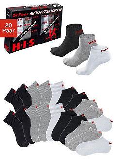 H.I.S Kotníčkové ponožky a krátké ponožky (Souprava, 20 párů)