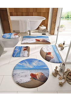 Koupelnová předložka, my home selection »Muschel«, výška 14 mm, paměťová pěna