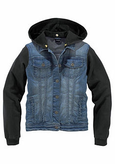 Arizona Džínsová bunda s rukávmi a kapucňou z bavlny, pre dievčatá