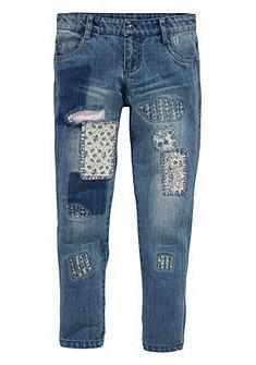 kidsworld Úzke džínsy s ozdobnými detaily, pre dievčatá