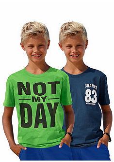 kidsworld feliratos póló (2 db), fiúknak