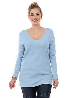 sheego Casual Basic póló hosszú V nyakú