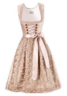 Krojové šaty v midi délce s tylovou zástěrkou, Marjo