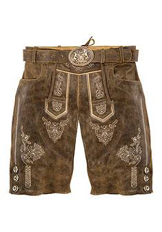 Pánske krojové kožené nohavice s výšivkou, Country Line