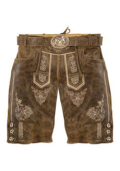 Krátké pánské krojové kožené kalhoty s výšivkou, Country Line