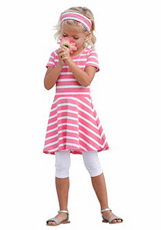 Kidoki ruha, legging & hajpánt (szett, 3 részes), lányoknak