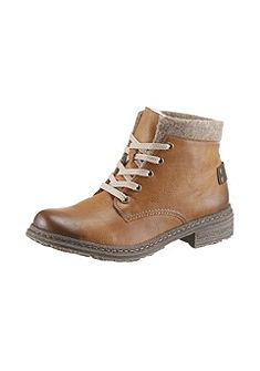 Rieker fűzős magas szárú cipő filc felső résszel