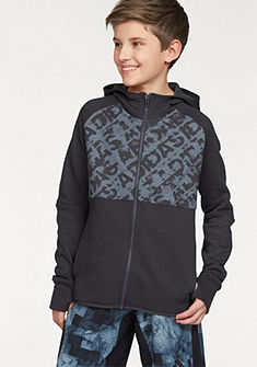 adidas Performance Mikina s kapucí »ATHLETICS HEATHER LINEAGE FULL ZIP HOODIE«