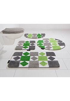 Fürdőszobaszőnyeg, függesztett Wc szett, Bruno Banani, »Radasta«, magasság 20mm, csúszásgátlós hátoldallal