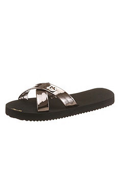 flip*flop Pantofle v metalickém vzhledu