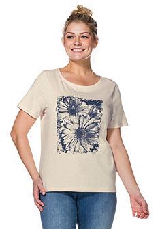 sheego Casual Póló divatos mintával az elején