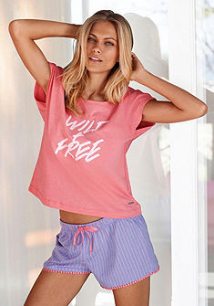 Buffalo Krátka pyžama s nápisom »Wild & Free«