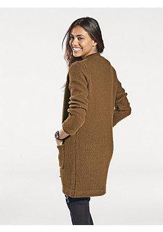 Dlouhý pletený svetr