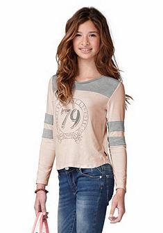 Buffalo Tričko s dlouhým rukávem s kontrastním efektem, pro dívky