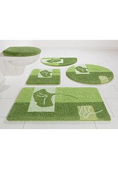 Fürdőszobaszőnyeg, 3 darabos szett fali WC-hez, my home Selection, »Frida«, vastagság 20 mm, csúszásgátló hátoldallal