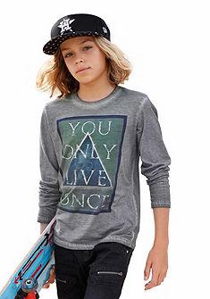 Buffalo Tričko s dlhým rukávom s prednou potlačou, pre chlapcov
