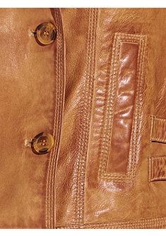 Kožená bunda, jehněčí nappa kůž