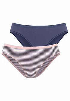 Schiesser női alsó, csíkos+egyszínű, 2db