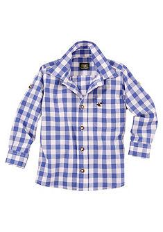 Dětská károvaná krojová košile s ohrnovacími rukávy, OS Trachten