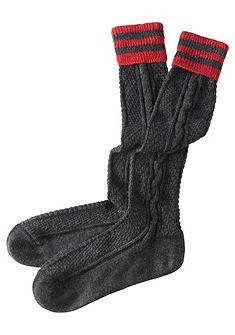 Pánske ponožky s vrkočovým vzorom
