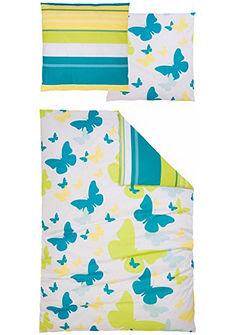 Obojstranná posteľná bielizeň, my home, »Sky« s motýľmi