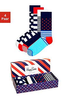 Happy Socks  Pánske ponožky vzorkované (4 páry) v krabici