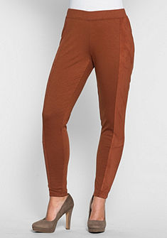 sheego Style szűk szárú dzsörzé nadrág