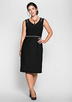 sheego Style Šaty s ozdobnými korálky