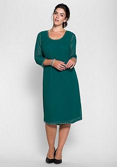 sheego Style Šifonové šaty s korálky