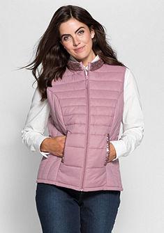 sheego Style Prošívaná vesta s flitry