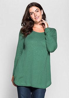 sheego Style pulóver strasszokkal