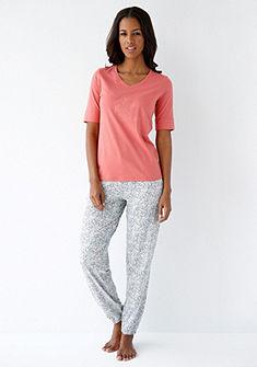 Schiesser Pyžamové kalhoty s květinovým potiskem